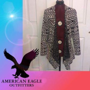 American Eagle Aztec Pattern Cardigan